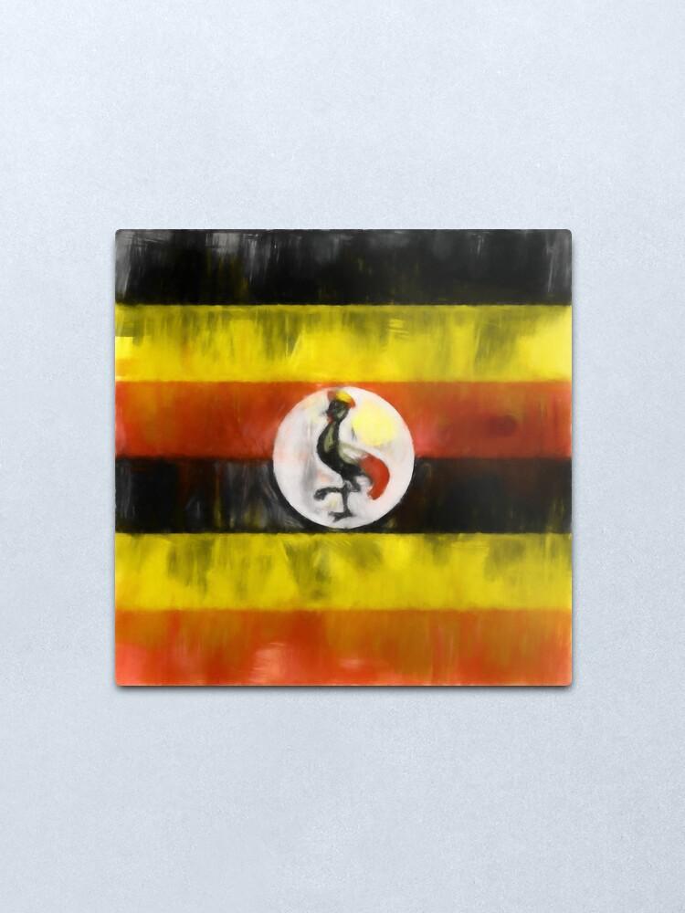 Alternate view of Uganda Flag Reworked No. 1, Series 1 Metal Print