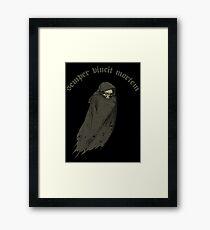 Death Always Wins Framed Print