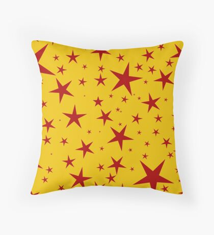 NDVH Stars (red on gold) Throw Pillow