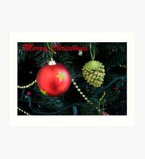 Christmas Card Art Print