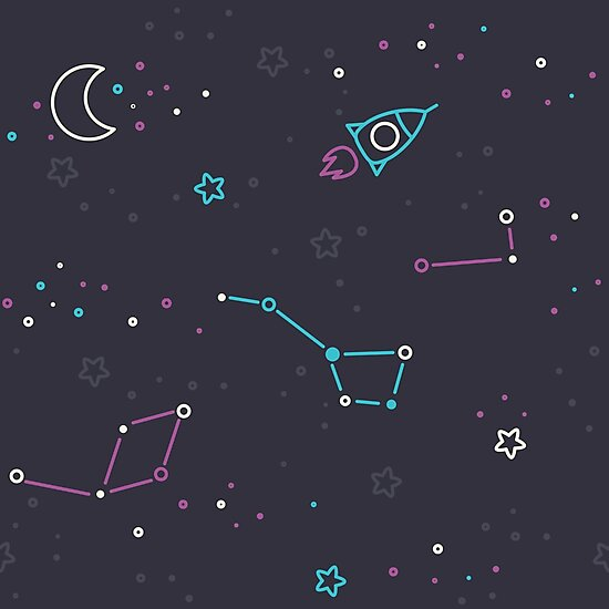 Let's discover the Universe! Adventure time doodle space image.  by motuwe