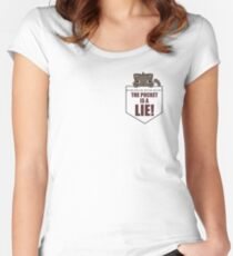 The Pocket Is A Lie Women's Fitted Scoop T-Shirt