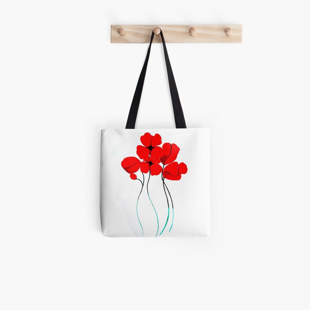 Poppies Bolsa de tela