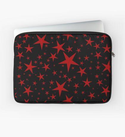 NDVH Stars (red on black) Laptop Sleeve