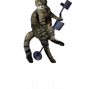 Funny Cat Metal Detecting  by JessDesigns