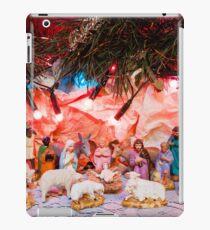 Nativity scene in Bethlehem crib iPad Case/Skin
