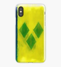 Saint Vincent And Grenadines Flag Reworked No. 2, Series 1 iPhone Case/Skin
