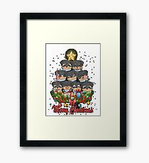 ROTTWEILER CHRISTMAS SWEATER Framed Print