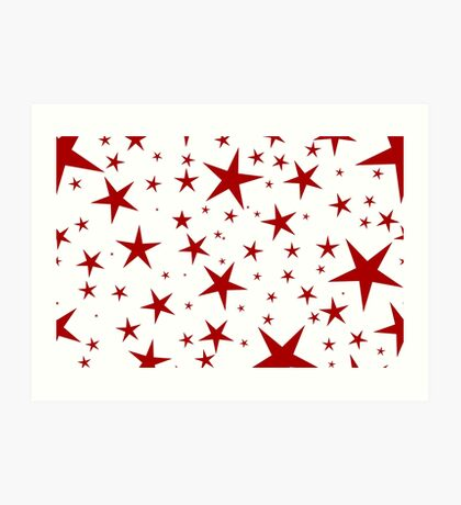 NDVH Stars (red on white) Art Print