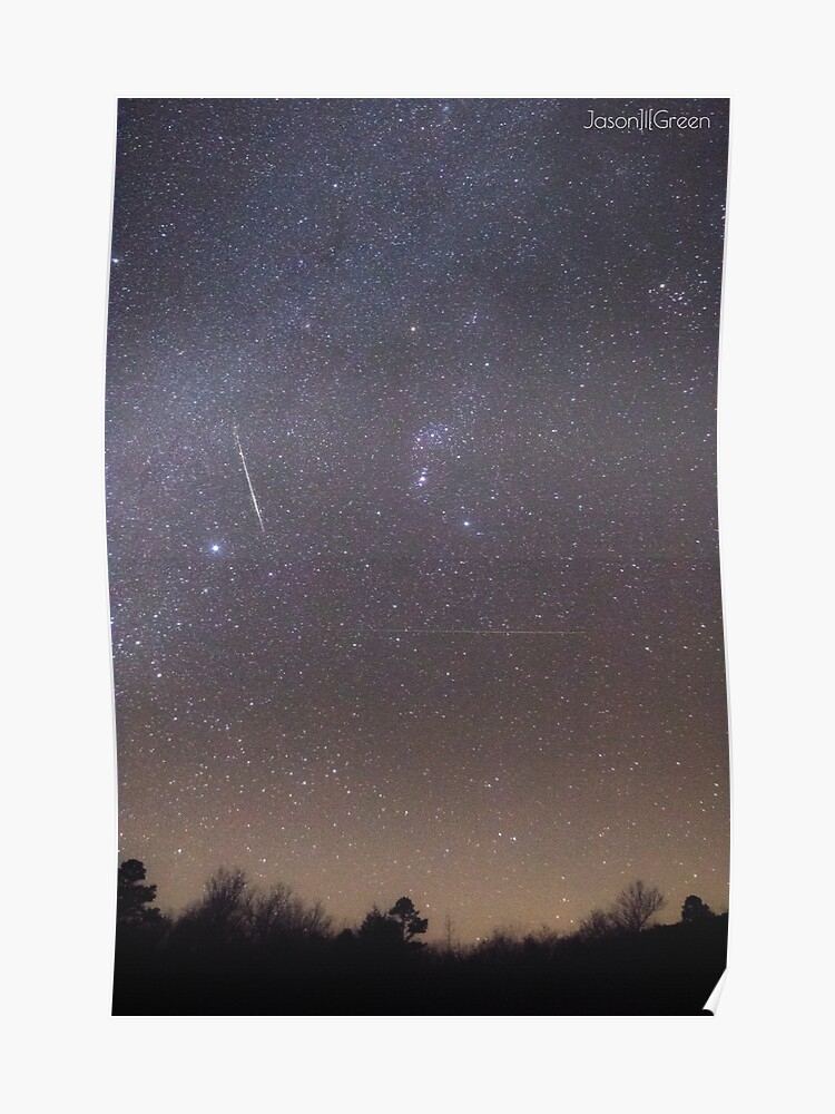 December 2017 Geminids Meteor Shower Oklahoma | Poster