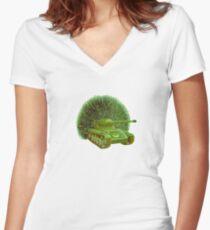 M Blackwell - PeaTank... Women's Fitted V-Neck T-Shirt