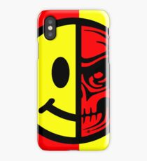 Smiley Face Skull Yellow Red iPhone Case/Skin