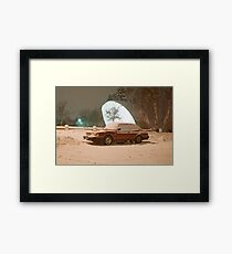 Saab In The Swedish Snow  Framed Print