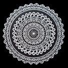 Weiße Tinten-Mandala von chailyn