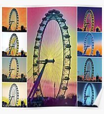 London Eye - collage Poster