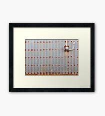 Rusty dots Framed Print