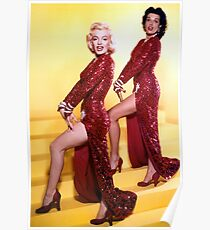 Gentlemen Prefer Blondes-Marilyn Poster