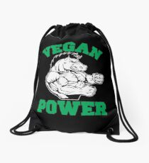 Vegan Horse Power Drawstring Bag