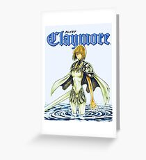 Claymore - Clare Greeting Card