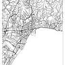 Malaga Map Minimal by HubertRoguski