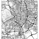 Madrid Map Minimal by HubertRoguski