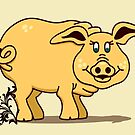 A Cure Cartoon Pig VRS2 by vivendulies