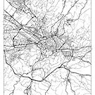 Florence Map Minimal by HubertRoguski