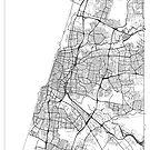 Tel Aviv Karte Minimal von HubertRoguski