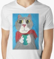 Grey Coffee Cat T-Shirt