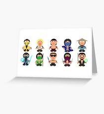 Mortal Kombat Fan Art Icons Greeting Card