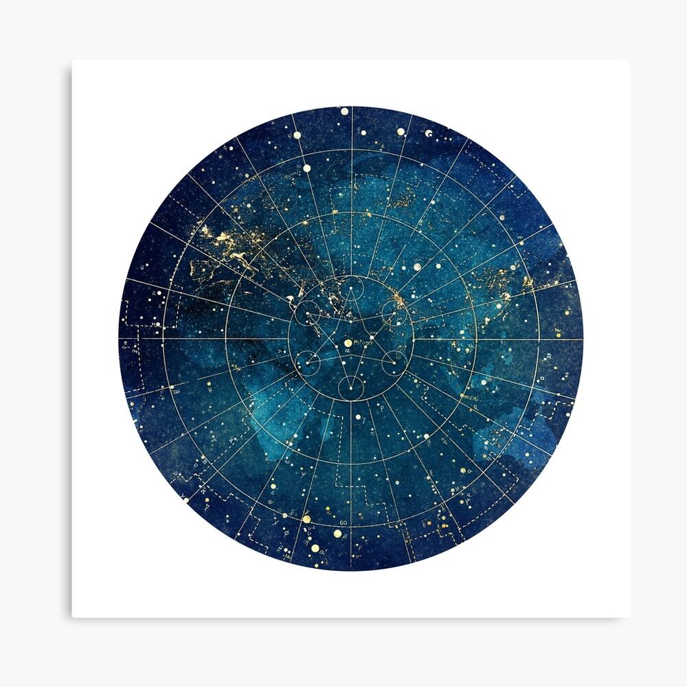Impression sur toile «Carte étoile :: City Lights»