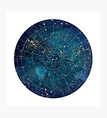 Star Map :: City Lights Photographic Print