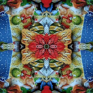 Christmas Flower Fractal Pattern by Factory23