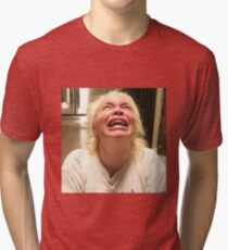 trisha crying Tri-blend T-Shirt