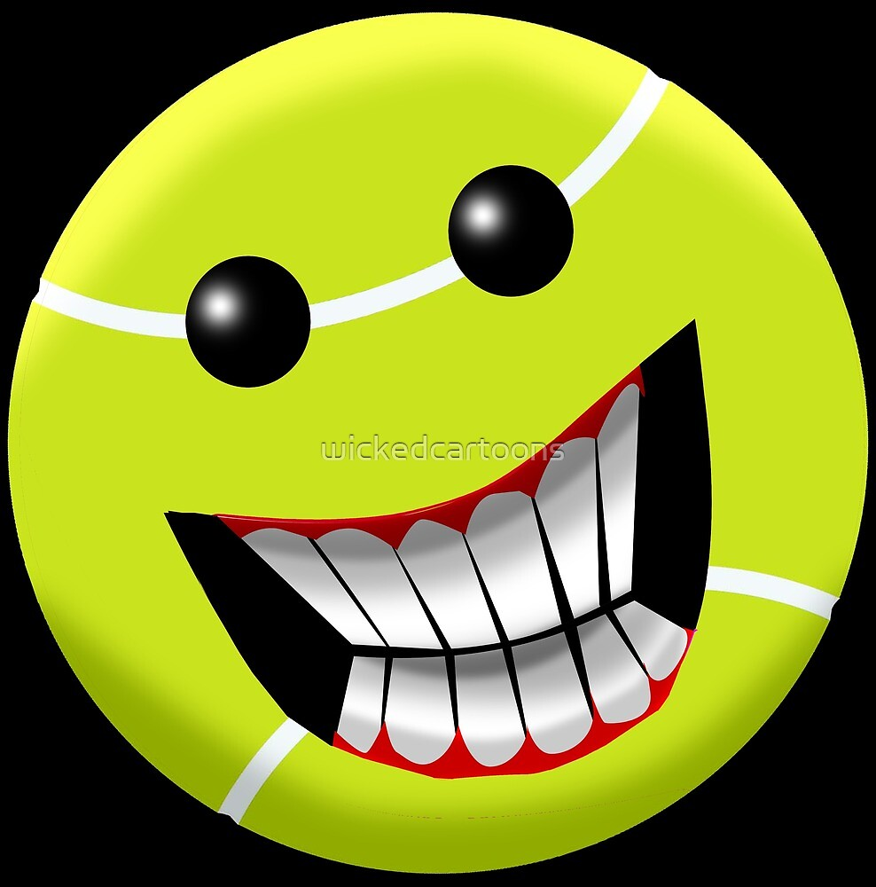 Tennis Ball Smiley face. by wickedcartoons