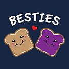 Peanut Butter and Jelly Best Friends Cartoon Food by Lindsay McCart