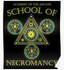 Academy of the Arcane: School of Necromancy RPG shirt Poster