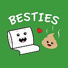 Funny Cute Besties Toilet Paper and Poo Cartoon by Lindsay McCart