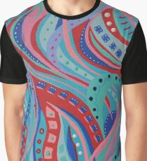 Wish 14 Blue, Pink and Red Graphic T-Shirt