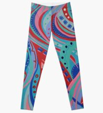 Wish 14 Blue, Pink and Red Leggings