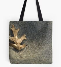 Frost on Leaf Tote Bag