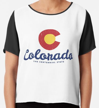 Colorado Badge Vintage Chiffon Top
