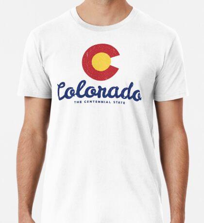 Colorado Badge Vintage Premium T-Shirt
