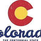 Colorado Badge Vintage by Chocodole
