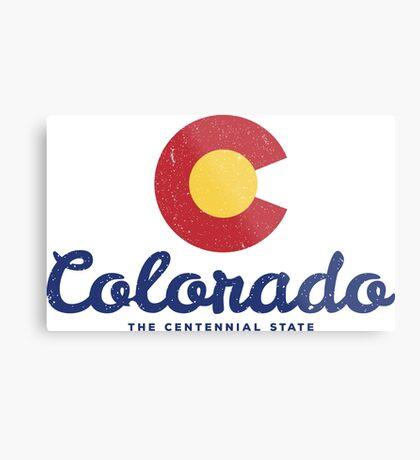 Colorado Badge Vintage Metal Print