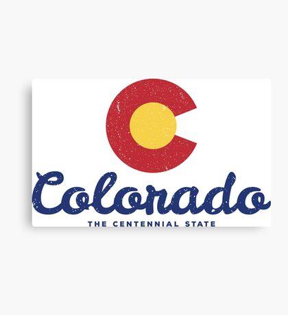 Colorado Badge Vintage Canvas Print