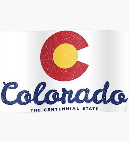 Colorado Badge Vintage Poster