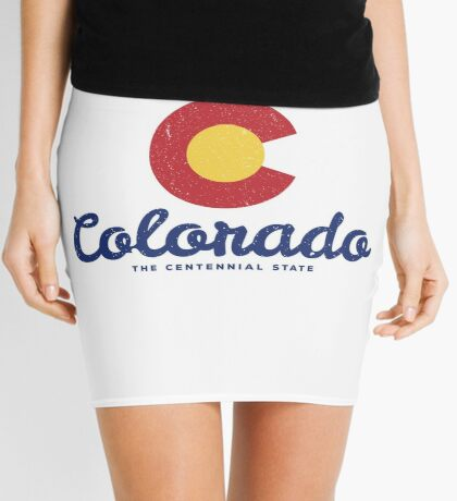 Colorado Badge Vintage Mini Skirt