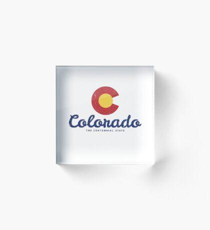 Colorado Badge Vintage Acrylic Block