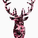 Rustic Big Buck - Frolicking Deer, Pink Camo by LoveOfDictums